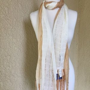 LIEB Natural Design Scarf Two Tone Made in India